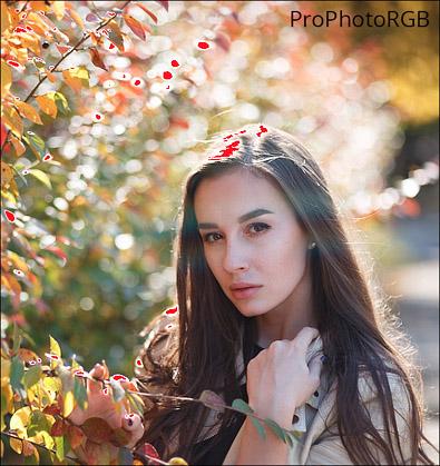 пересветы в цветовом пространстве ProPhotoRGB