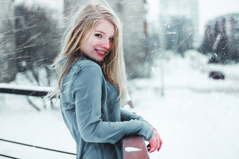 портретная съемка зимой