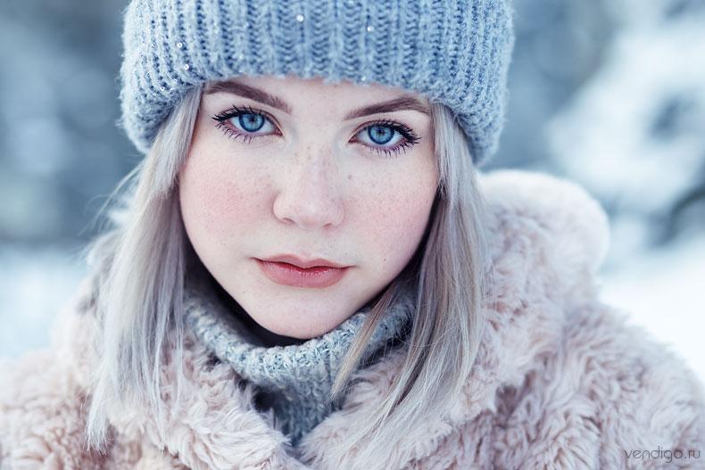 как снимать портреты зимой